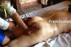 Desi wife Suman getting nude massage whisper suppress filming [Part 2]