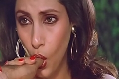 Sexy Indian Actress Dimple Kapadia Engulfing Thumb lustfully Like Cock