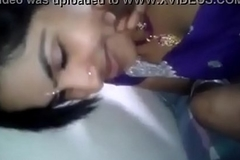 indian couple in homemade kissing