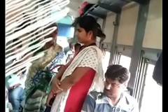 Tamil woman groping in train