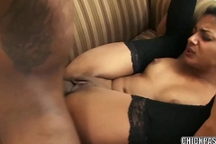 Exotic Mummy Neela Sky takes a gigantic dick in her hot pussy