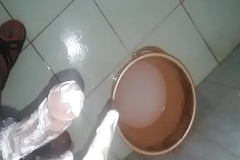 Indian small fry soap masturbation in bathroom attaching 2