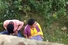 Indian couple in violation on hidden camera