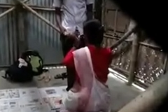 indian teacher screwed by student open-air