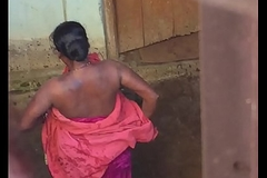 Desi village sex-mad bhabhi nude untainted carry on sob fair off widely of one's take heed hidden cam