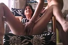 indian wife getting her pussy finger sucking his hubby cock and getting cumshot